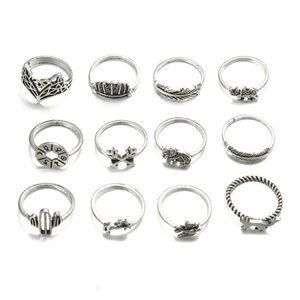 (x3) Boho Ring Set